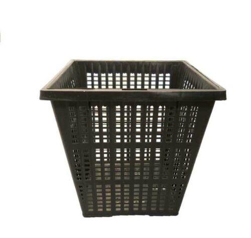 Aquatic Plant Pot 4 in. Square- Rigid Mesh Basket for Planting-Pond-Water Garden