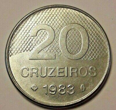 Monnaies, Brésil, 20 Cruzeiros, 1983, SUP, Stainless Steel, KM:593.1