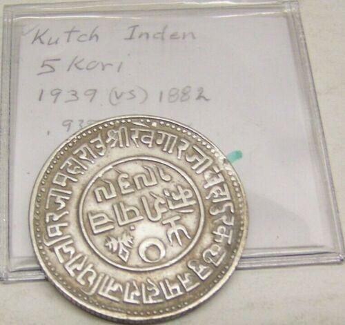 1882//VS 1939 - India - Princely States - KUTCH 5 KORI  0.9370 Silver 13.8700 GR
