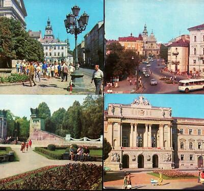 Lot of 17 - LVIV, UKRAINE, c.1974-75 - City views, Sights, landmarks, people