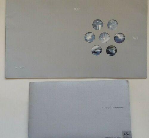 2002 Infiniti Q45 Brochures (2) + CD ROM