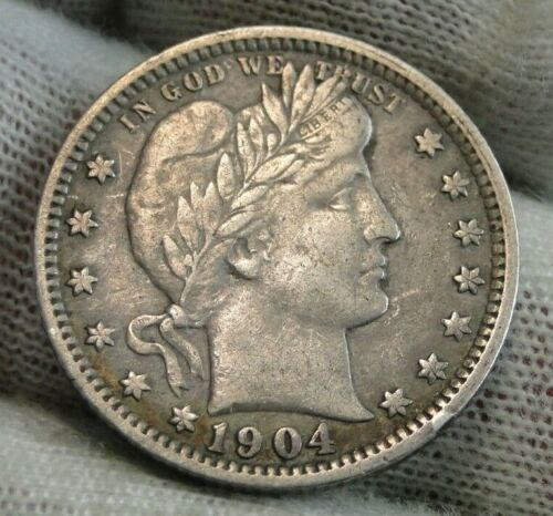 1904-O Barber Quarter 25 Cents. Semi-Key Date, Nice Coin (9545)