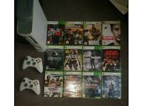 XBOX 360 console and games bundle x box