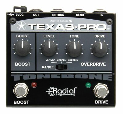 Radial Tonebone Texas Pro - Overdrive and Boost Guitar Pedal Live Studio *NEW*