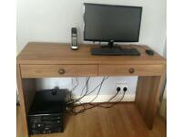 Oak effect writing desk/computer table £45
