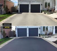MATTE BLACK DRIVEWAY SEALING (residential&commercial)