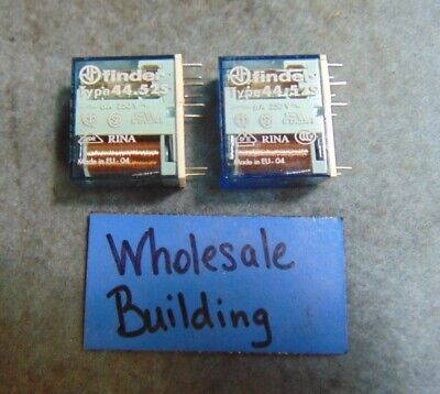 Finder Relay 44.52s 250v Ac 6a 24v Dc 8 Pin Lot Of 2