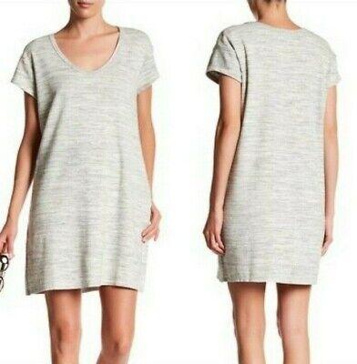 ATM Anthony Thomas Melillo Sweatshirt Dress Seam Pockets Stone Blast Women Sz M