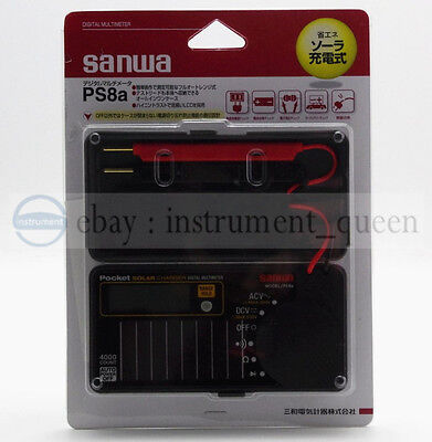 Digital Solar Battery Pocket Size Electric Multimeter Sanwa Ps8a Dmm 0.7 New