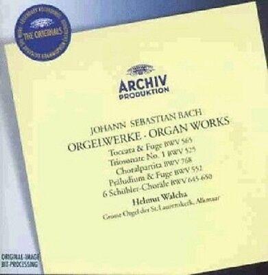 Helmut Walcha - J.s. Bach-orgelwerke Cd 14 Tracks Classic Solo Organ Neu