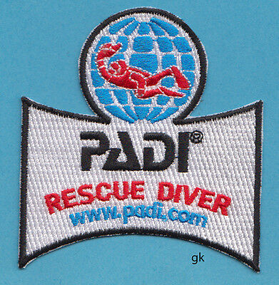 PADI RESCUE DIVER  SCUBA DIVE PATCH, used for sale  Shipping to Nigeria