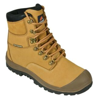 WORK BOOTS BY MONGREL WHEAT COLOUR SIZE 9.