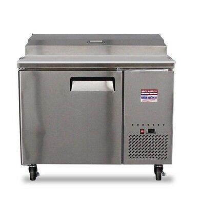 44 Pizza Prep Table Unit 4 Make Line Refrigerator Prep Cooler 2 Door 48 Tpp44
