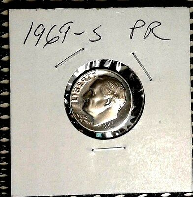 - 1969- S Proof  Roosevelt Dime Great  proof  Coin  Nice Coin  Combined Ship