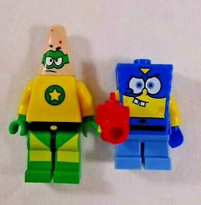 Lego SpongeBob SquarePants and Patrick Star Minifigures ONLY Heroes of the Deep