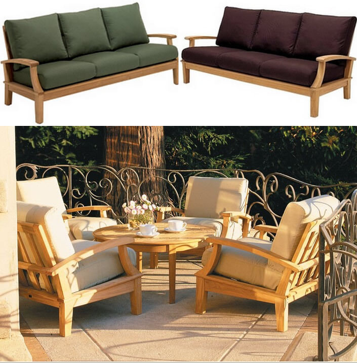 Somer A-grade Teak Wood 6pc Outdoor Garden Patio Large Sofa Lounge Chair Set New