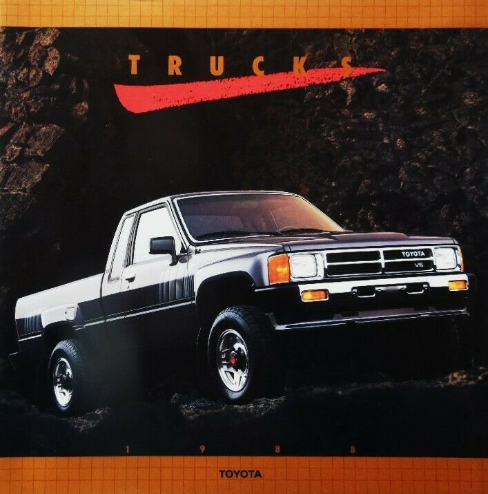 1988 Toyota Pickup Trucks 4 X 4 and 4 X 2  Large Deluxe 28-Page Sales Brochure