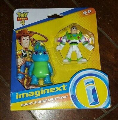 Disney Fisher Price Toy Story 4 Imaginext: BUNNY & BUZZ Figures! Ages 3-8