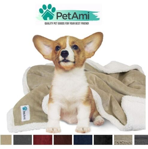 Dog Blanket for Small Dog Puppy Cat Reversible Soft Warm Durable Fleece Sherpa