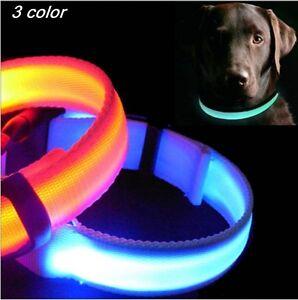 LED-Dog-Collar-Night-Safety-Pet-Flashing-Light-Adjustable-Cat-Collar-NEW