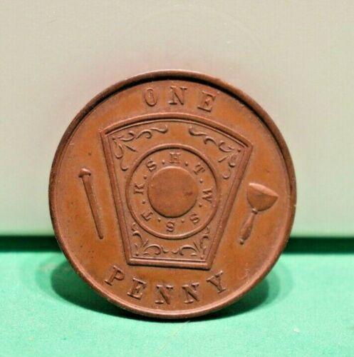 Masonic Token One Penny Syracuse, NY 1821