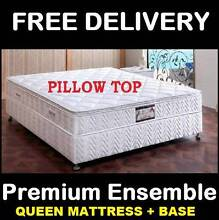 NEW Queen Size Bed PREMIUM Pillow Top Mattress + Base New Farm Brisbane North East Preview