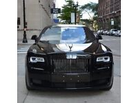 Black Badge Rolls Royce Ghost Series 2 with starlights, Rolls Royce Phantom Series 2, Limousines