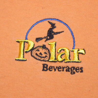 Vintage Polar Beverages Embroidered Halloween T-Shirt Seltzer Seltzerheads Soda