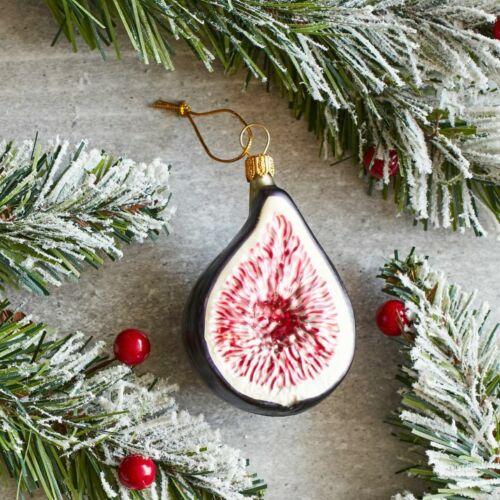 Sur la Table Fig Very Rare Glass Christmas Ornament