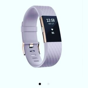 Fitbit charge 2 lavender and rose gold