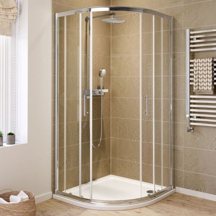 Stunning Corner shower enclosure and stone tray. 900x900mm   in ...