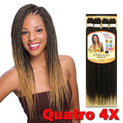 "EZ Braid Hair Pre-Stretched Braiding Itch & Bacteria Free 20"" - 26"" - Quatro 4X"