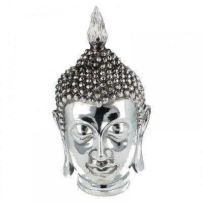 L29604 SILVER ART THAI BUDDHA HEAD [96043]