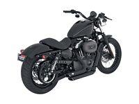 Harley Davidson Sporster Shortshot Staggered in black. 2004- 2013 rrp £525