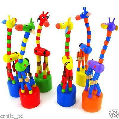 Giraffe Baby Toy - New Kids Intelligence Toy Dancing Stand Colorful Rocking Giraffe Baby Wooden Toy