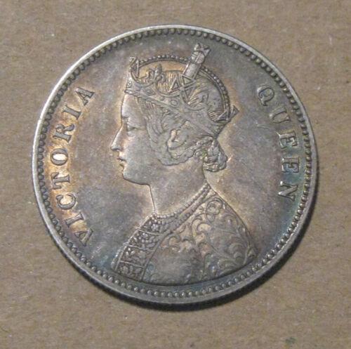 India (British) - 1862 Large Silver Rupee - Victoria