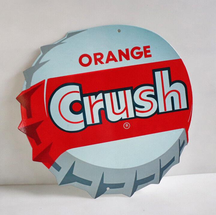 "15"" ORANGE CRUSH BOTTLE CAP Diecut Display Sign modern retro"