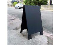 Plain Wooden Black Sandwich Board, Shop Sign, A Board, Chalk Board