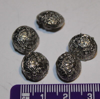 Pewter Rose Buttons 10mm Historical Reenactment Medieval Tudor UK Made
