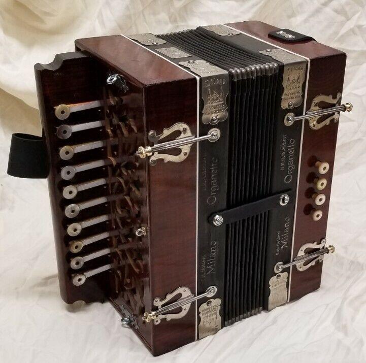 Antique Milano Organetto Accordion Accordian In Fantastic Condition