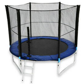 10FT-TL-103 We R Sports Trampoline With Safety Net Enclosure Ladder Rain Cover 10ft -cost £215amazon