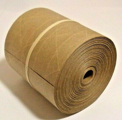 75-foot Reinforced Paper Tape Roll Gummed Brown Kraft Shipping Packaging Sealing