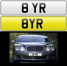 8 YR cherished private personalised number plate dateless reg. 8 YEAR - AYR - BYR - 8 YR