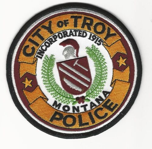 Troy Police State Montana MT Colorful