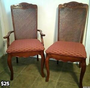 Set of 2 Formal Wood Chairs