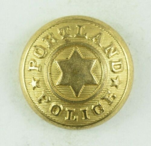 1890s-1910 Portland Police Six Pointed Star Original Uniform Button H2CT