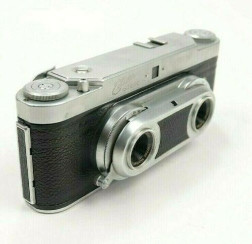 Wirgin Edixa 35mm Film Stereo 3D Rangefinder Camera Original Leather Case