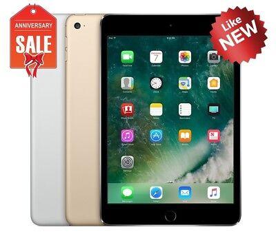 Apple iPad Mini 4 WiFi + Cellular Unlocked I 16GB 32GB 64GB I Gray Silver Gold
