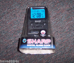 NEW SHARP DIGITAL ALARM CLOCK W/ INDOOR TEMP - COUNTDOWN TIMER - CALENDAR & MORE