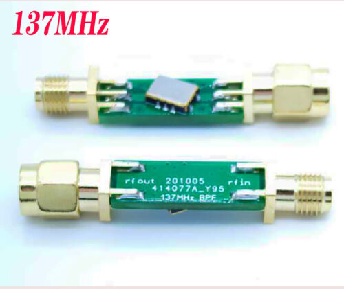 NEW 137MHz SAW BPF band pass filter Center frequency: 137.5MHz